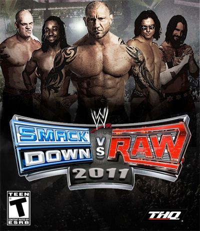 Kofi Kingston, Kane, John Morrison, and CM Punk on the cover of the